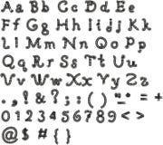 Original font, alphabet on a white background Royalty Free Stock Photos