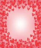 Original frame for photos and text. Red balloons in the shape of a heart. A wonderful gift for Valentine s Day. Vector royalty free illustration