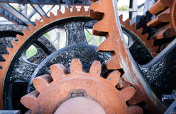 Original Gear Mechanism For Raising Lowering Murray Morgan Drawb stock photography