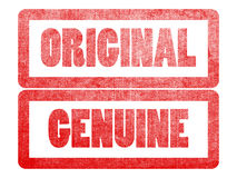 Original genuine text label stamp for documents. Royalty Free Stock Image