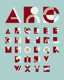 Original geometric alphabet Royalty Free Stock Images