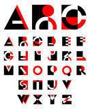Original geometric alphabet Royalty Free Stock Photography