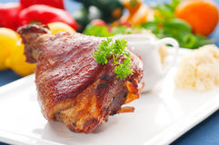 Original German BBQ Pork Knuckle Stock Photos
