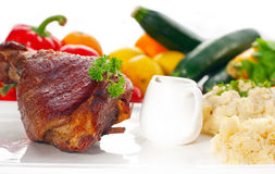 Original German BBQ pork  knuckle Royalty Free Stock Images
