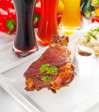 Original German BBQ pork  knuckle Stock Images