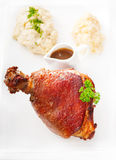 Original German BBQ pork  knuckle Royalty Free Stock Image