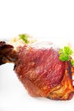 Original German BBQ pork  knuckle Stock Photos