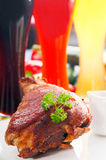 Original German BBQ pork  knuckle Stock Photography