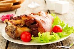 Original German BBQ pork knuckle Stock Images