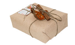 Original gift packing from a technical paper (carton) Stock Photography
