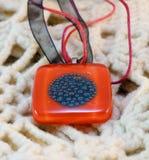 Original glass handmade amulet Royalty Free Stock Images