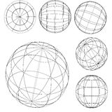 Original globe elements-spheres Stock Images