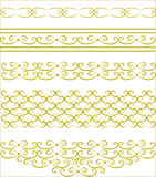 The original gold decorative patterns Stock Images