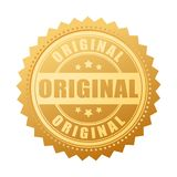 Original gold seal icon. Vector illustration Royalty Free Stock Photos