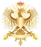 Original golden eagle crest. Vector illustration Stock Photography