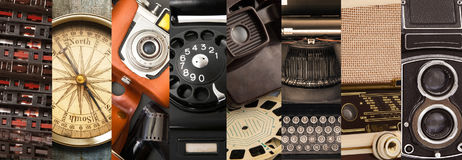 Original great vintage objects collection Stock Image