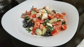 Original greek salads Stock Photo