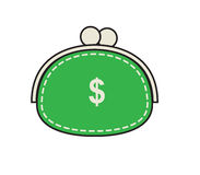 Original green purse. Royalty Free Stock Photo