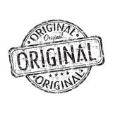 Original grunge rubber stamp. Black grunge rubber stamp with the word original written inside the stamp Stock Image