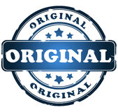 Original grunge stamp. Over white Royalty Free Stock Photography