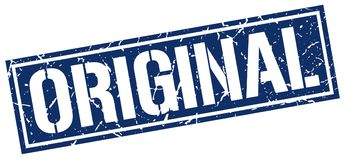 Original stamp. Original grunge stamp on white background Stock Photos