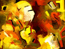 Original hand draw abstract digital painting Royalty Free Stock Photo