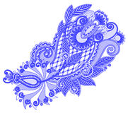 Original hand draw line art ornate flower design Stock Photos