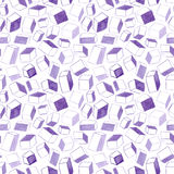 Original hand drawn cubes abstract background, seamless pattern Royalty Free Stock Photo