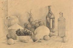 Original hand drawn, Fruit Royalty Free Stock Image