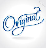 ORIGINAL hand lettering (vector) Royalty Free Stock Images