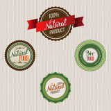 Original hand lettering Natural and eco design elements. Handmad. E calligraphy. Organic, bio, natural design template. Colorful patterns for advertising. Can be Stock Photography