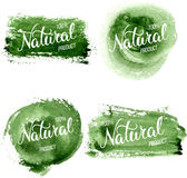 Original hand lettering Natural and eco design elements. Handmad Royalty Free Stock Photos