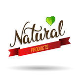 Original hand lettering Natural and eco design elements. Royalty Free Stock Image