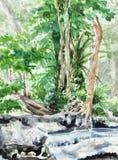 Original hand paint, landscape Royalty Free Stock Photo