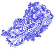 Original- handattraktionlinje utsmyckad blommadesign för konst Arkivfoton