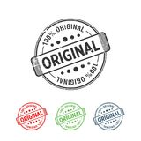100% Original Handmade Authentic Label Badge vector. Y Vector graphic design royalty free illustration
