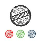 100% Original Handmade Authentic Label Badge. Y Vector graphic design vector illustration