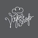 Original handwritten text Vape Shop Royalty Free Stock Images