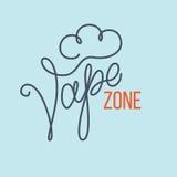 Original handwritten text Vape Zone. Royalty Free Stock Photography