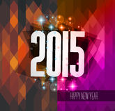Original 2015 happy new year hipster background. With squared paths and blend shadows Royalty Free Illustration
