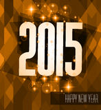 Original 2015 happy new year modern background. With flat style text and soft shadows Royalty Free Stock Images