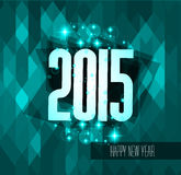 Original 2015 happy new year modern background. With flat style text and soft shadows Stock Photo