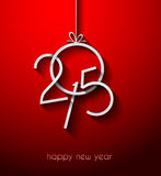 Original 2015 happy new year modern background. With flat style text and soft shadows Stock Image