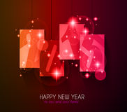 Original 2015 happy new year modern background. With flat style text and soft shadows royalty free illustration