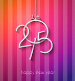 Original 2015 happy new year modern background. With flat style text and soft shadows Royalty Free Stock Photos