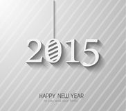 Original 2015 happy new year modern background. With squared paths and blend shadows Stock Images