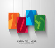 Original 2015 happy new year modern background. With squared paths and blend shadows Stock Image