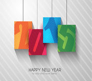 Original 2015 happy new year modern background. With squared paths and blend shadows stock illustration