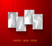 Original 2015 happy new year modern background. With squared paths and blend shadows Stock Photo
