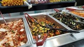 Original a Havaí Kim Chee Food Bar dentro do mercado de Palama Imagem de Stock